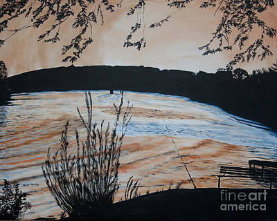 Painting - Gone Fishing by Ian Donley