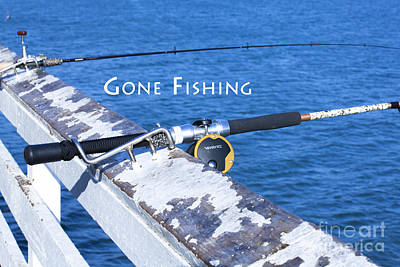 Photograph - Gone Fishing Off The Malibu Pier With My Reel And Rod  by Jerry Cowart