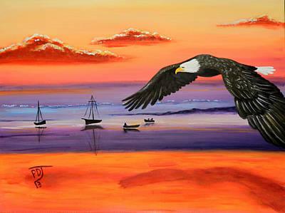 Gone Fishing Art Print by Pamorama Jones
