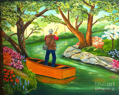 Painting - Gone Fishing by Shelia Kempf