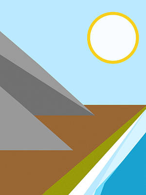 Digital Art - Gone To The Beach Minimalist Poster by Celestial Images