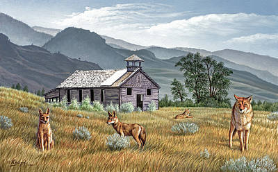 Schoolhouse Painting - Gone To The Dogs by Paul Krapf
