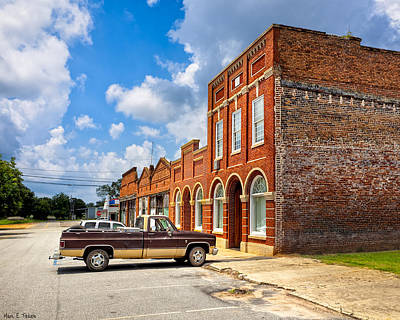 Photograph - Gone To Town - Main Street - Rural Georgia Towns by Mark E Tisdale