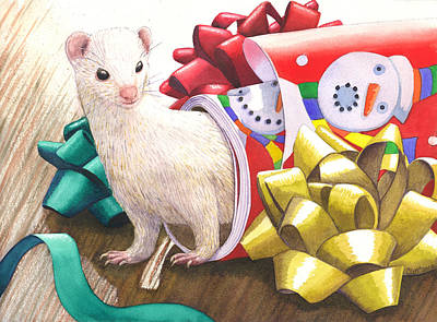 Ferret Painting - Gone Tubular by Catherine G McElroy