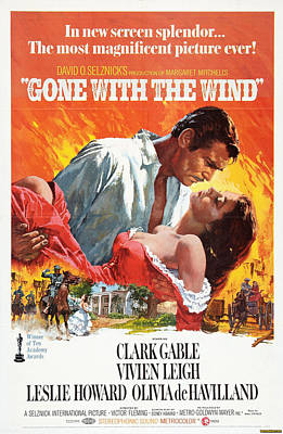 Gone With The Wind - 1939 Art Print by Georgia Fowler