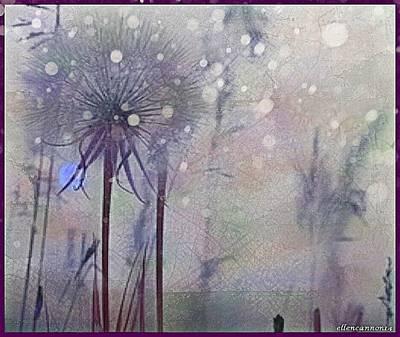 Dandelion Digital Art - Gone With The Wind by Ellen Cannon