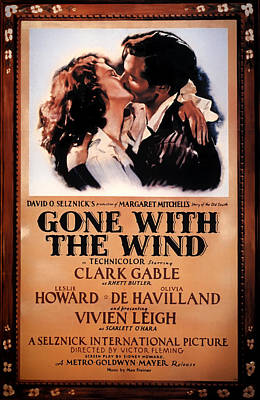 Gone With The Wind Movie Poster 1939 Art Print by Mountain Dreams