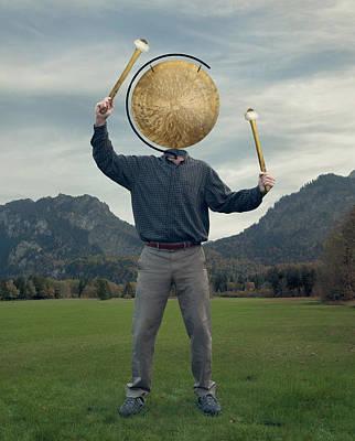 Photograph - Gong by Brian Grzelewski