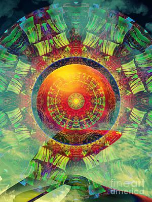 Gong Digital Art - Gong Meditation by Klara Acel