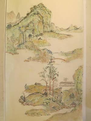 Alejandro Painting - Gongbi Landscape # 4 by Alejandro  Angio