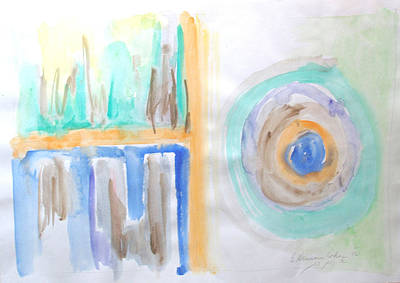 Art Print featuring the painting Good Afternoon Abstract by Esther Newman-Cohen