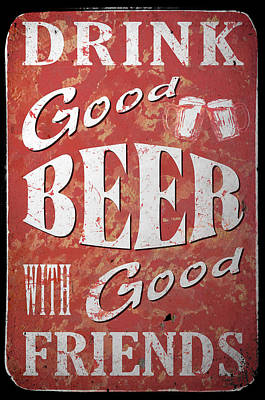 Man Cave Painting - Good Beer by Cora Niele