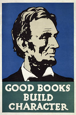 Character Study Photograph - Good Books Build Character  1925 by Daniel Hagerman