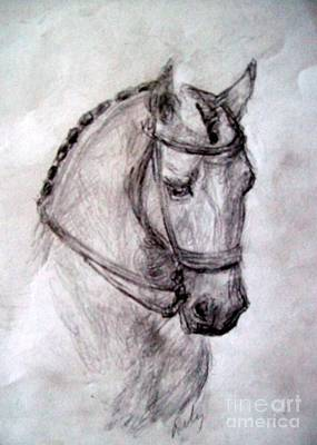 Horse Giclee Painting - Good Boy by Relly Peckett