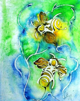 Painting - Good Day To Be A Bee by Pat Purdy