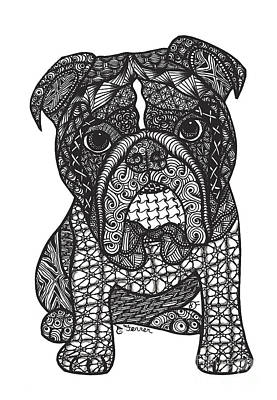 Drawing - Good Dog - English Bulldog by Dianne Ferrer