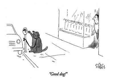Good Dog! Art Print by Sam Gross