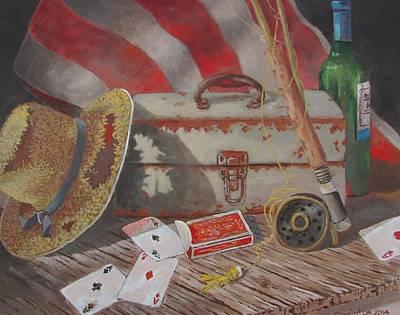 Painting - Good Fishing Day by Tony Caviston