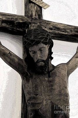 Inri Photograph - Good Friday Crucifixion by Al Bourassa