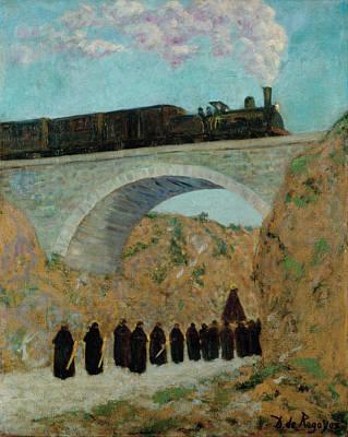 Valdes Painting - Good Friday In Castille by Dario de Regoyos y Valdes