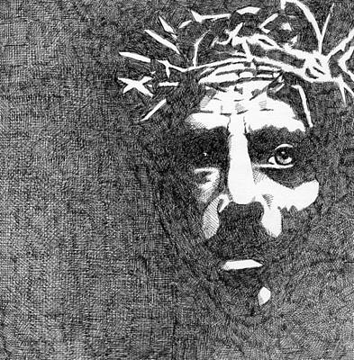 Jesus Drawing - Good Friday by Jack Puglisi