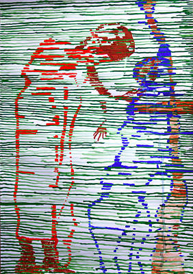 Painting - Good Friday - Jesus Meets His Mother On Calvary by Gloria Ssali
