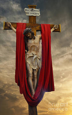 His Ultimate Gift Of Mercy - Jesus Christ Art Print by Luther Fine Art