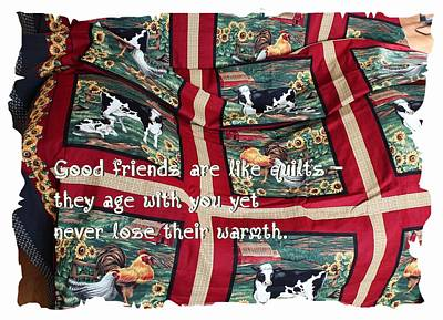 Quilts For Sale Photograph - Good Friends Are Like Quilts by Barbara Griffin