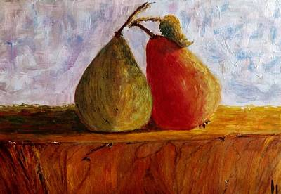 Pear Tree Painting - Good Friends... by Cristina Mihailescu