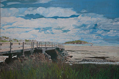 Painting - Good Harbor Bridge by Laurence Dahlmer