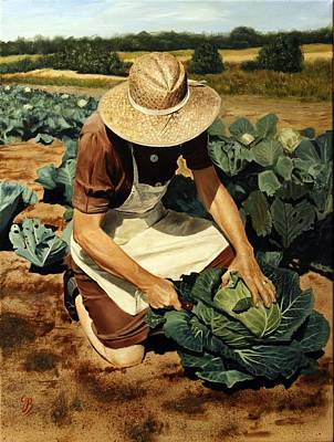 Art Print featuring the painting Good Harvest by Glenn Beasley