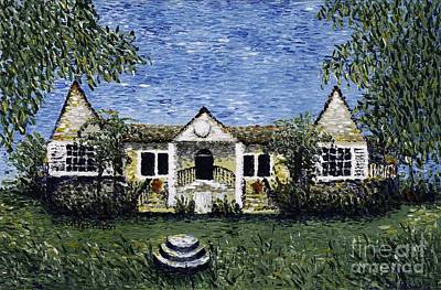 Pointillism Painting - Good Hope Great House by Bridget Watson
