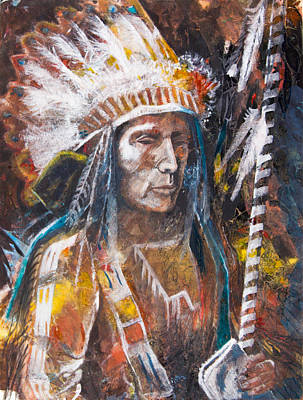 Staff Painting - Good Lance by Patricia Allingham Carlson