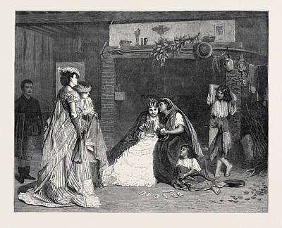 Good Luck, In The International Exhibition 1871 Art Print by Baugniet, Charles (1814-86), Belgian