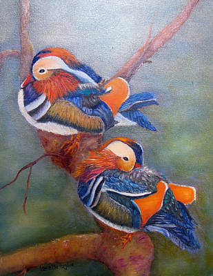 Painting - Good Luck Mandarins by Loretta Luglio