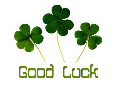 Good Luck Digital Art - Good Luck Poster by Celestial Images