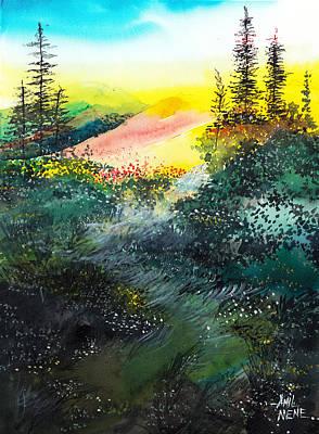 Good Morning 3 Art Print by Anil Nene