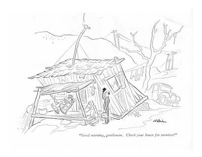 Dilapidated Drawing - Good Morning by  Alain