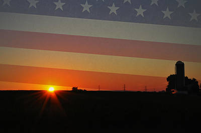 Sunrise Photograph - Good Morning America by Bill Cannon