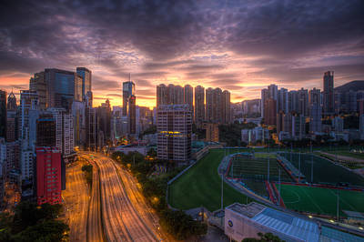 Art Print featuring the photograph Good Morning Hong Kong by Mike Lee