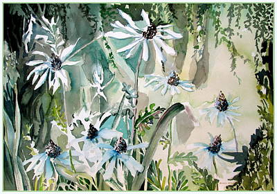 Daisies Drawing - Good Morning by Mindy Newman