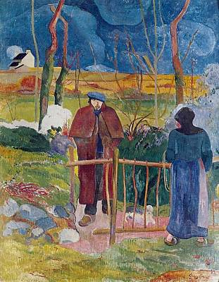 Galerie Painting - Good Morning Monsieur Gauguin by Paul Gauguin