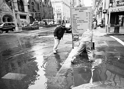 Photograph - Good Morning New York Rain by Dave Beckerman