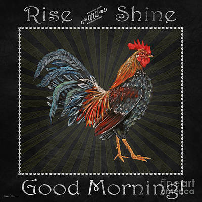 Good Morning Rooster-jp2614 Original by Jean Plout