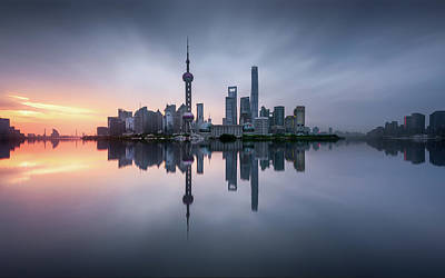 China Wall Art - Photograph - Good Morning Shanghai by Jes?s M. Garc?a