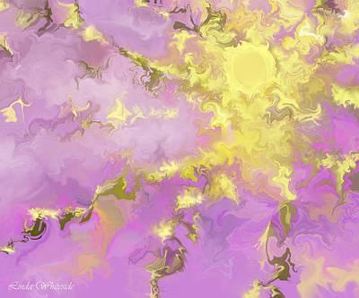 Art Print featuring the digital art Good Morning Starshine by Linda Whiteside