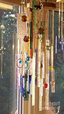 Glass Art - Good Morning Sunshine - Sun Catcher by Jackie Mueller-Jones