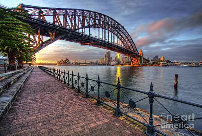 Luna Park Photograph - Good Morning Sydney by Linda D Lester