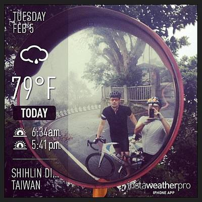 Cycling Photograph - Good Morning #weather  #shihlindistrict by Randy Chen