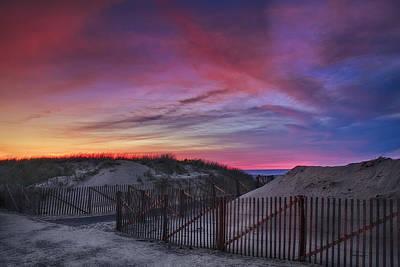 Beach Fence Photograph - Good Night Cape Cod by Susan Candelario